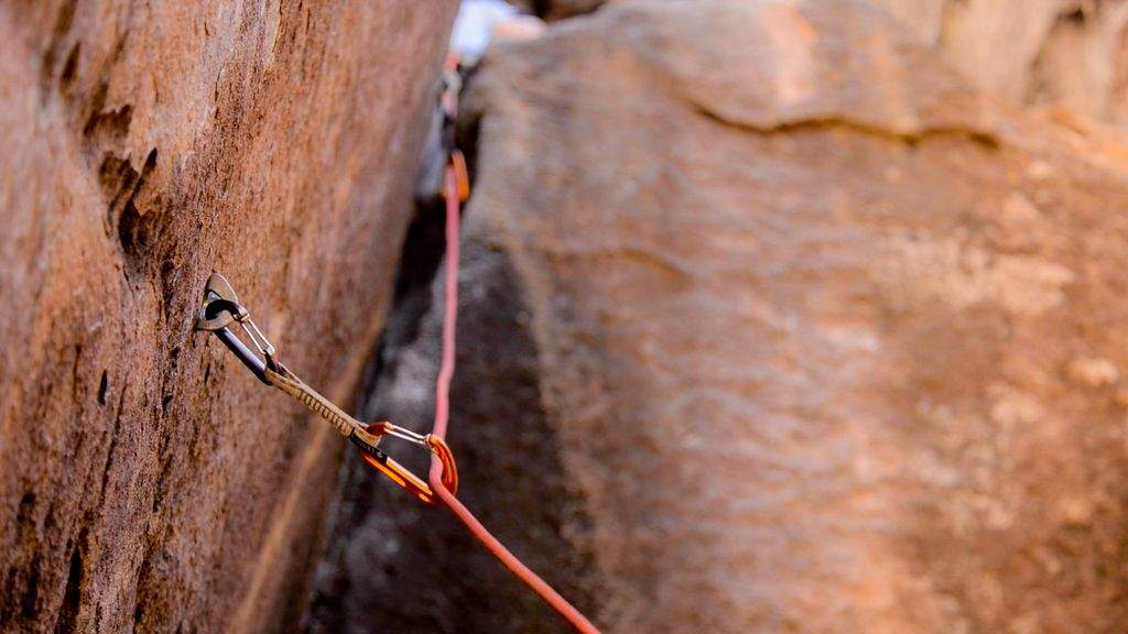 sport climbing ropes, carabiners, and qucikdraws