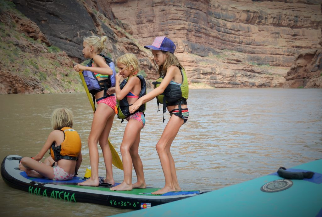 Family vacation on the San Juan River rafting with children