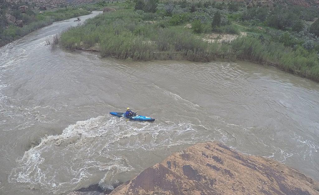 Dolores via San Miguel - Peter in blue kayak