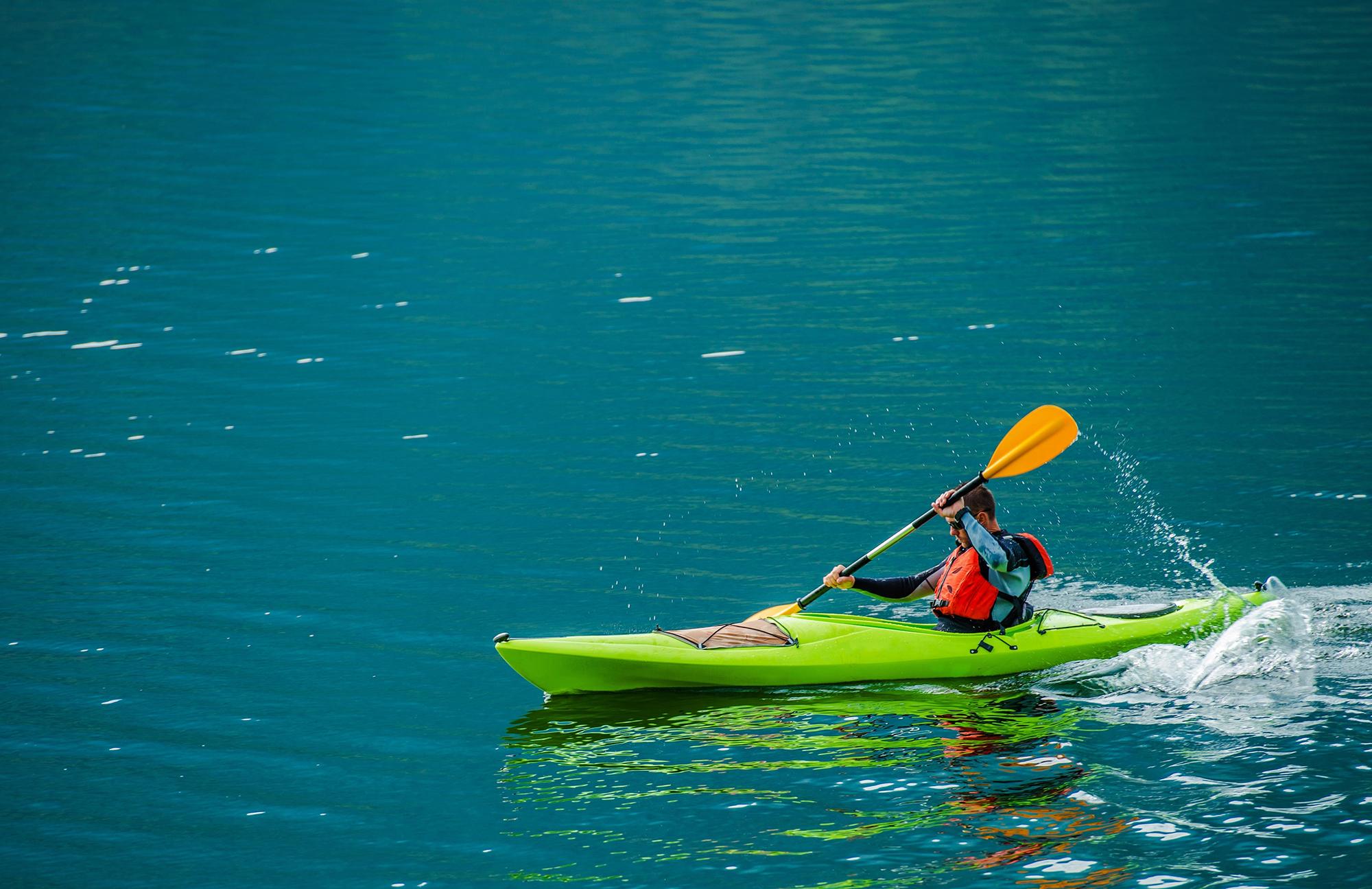 Polyethylene kayak
