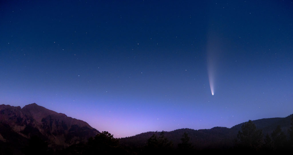 comet NEOWISE landscape top stories 2020