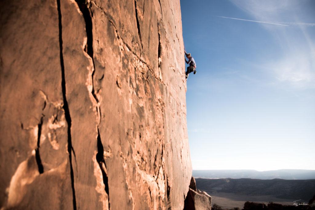 rock climber paradox valley west end colorado
