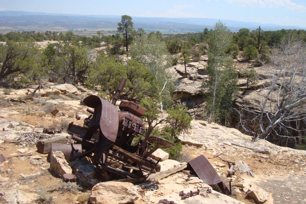 old tractor sawtooth sawtooth ridge colorado west end