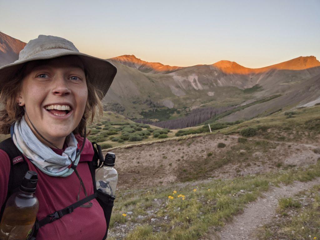mikaela osler colorado trail selfie