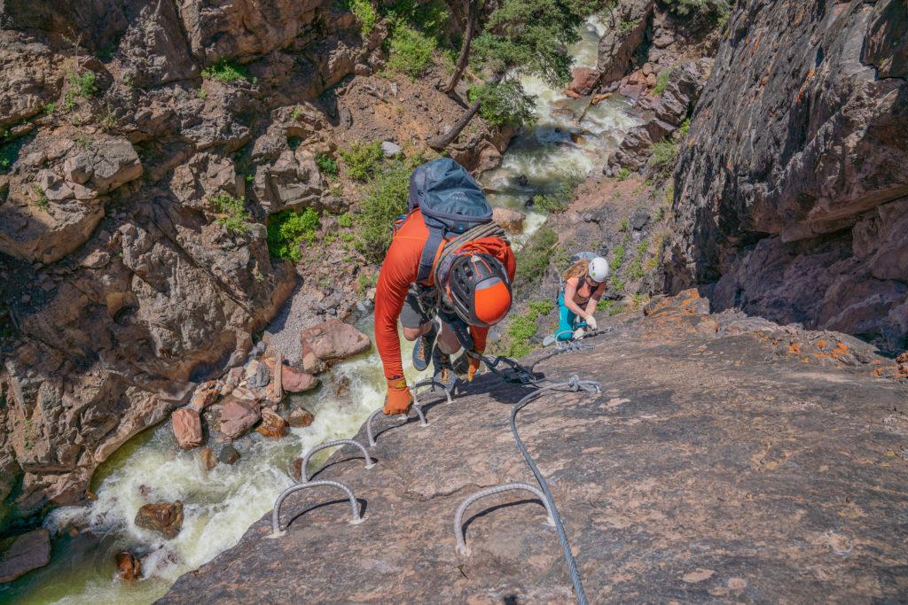 ouray via ferrata stairway to heaven box canyon uncompahgre river gorge