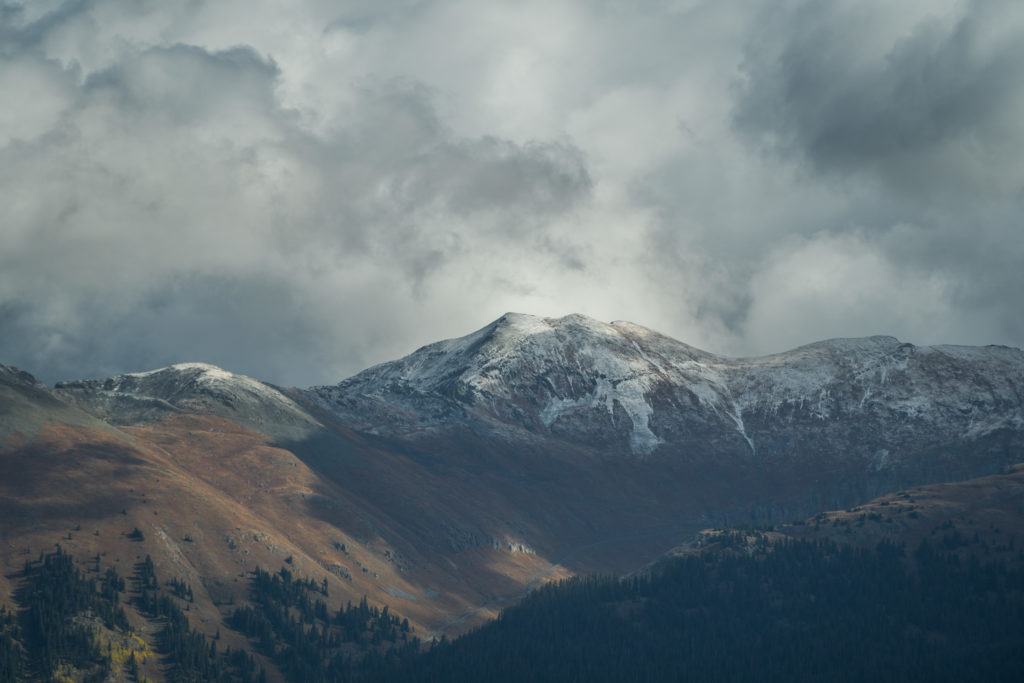 snowy mountains Southwest Colorado