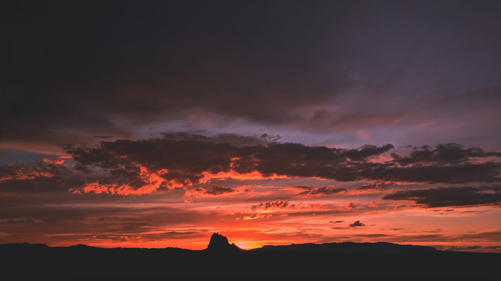 shiprock sunset northern new mexico