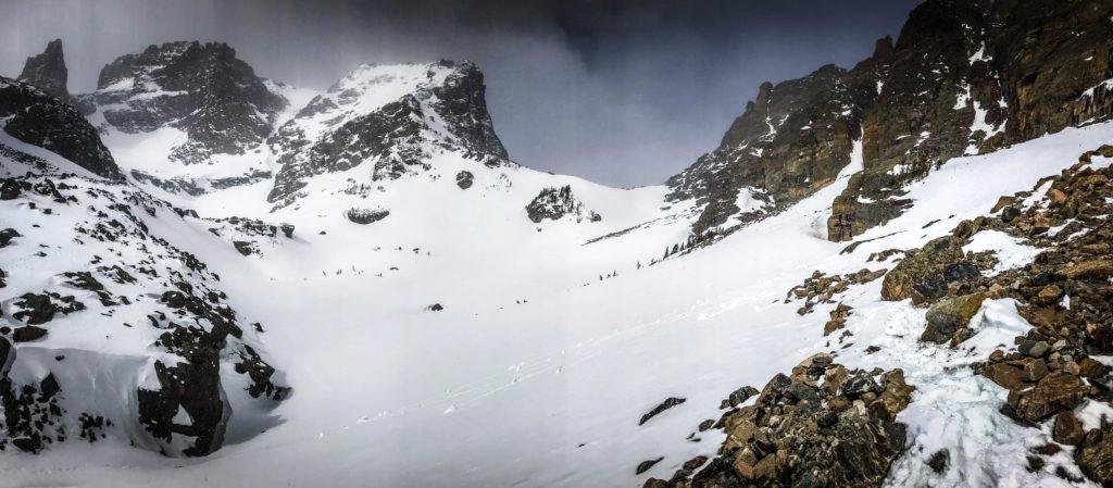 andrews glacier rocky mountain national park