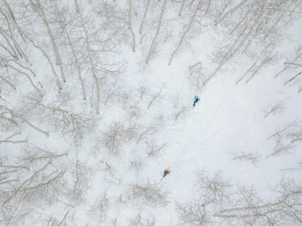 winter 20/21 issue sneak peak drone skiing