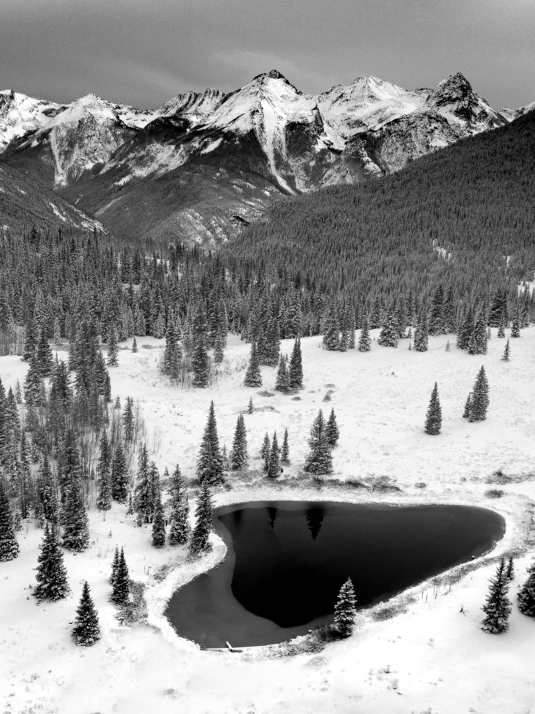 behind the lens winter drone photography san juan mountains