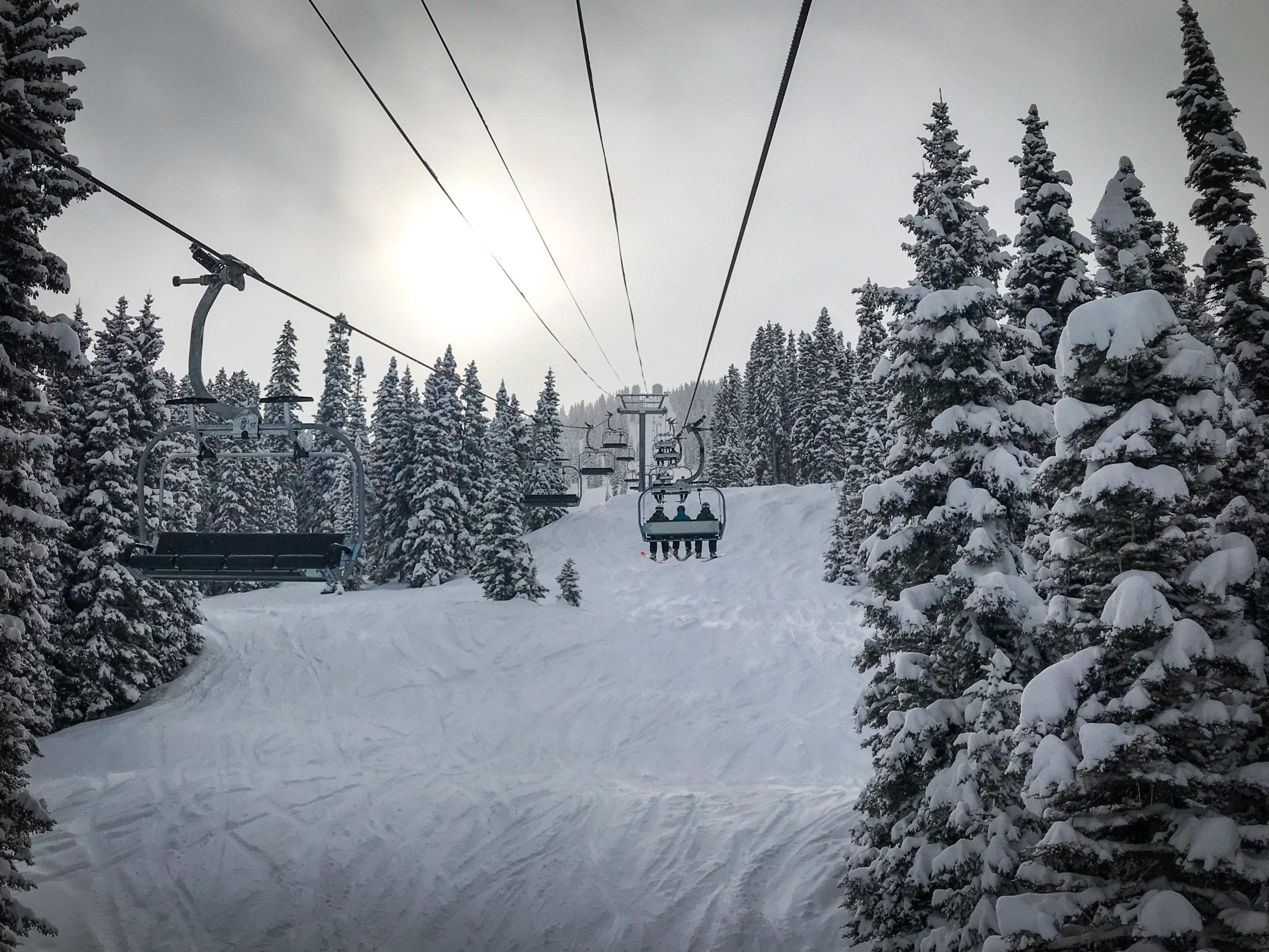 ski areas covid purgatory resort chairlift