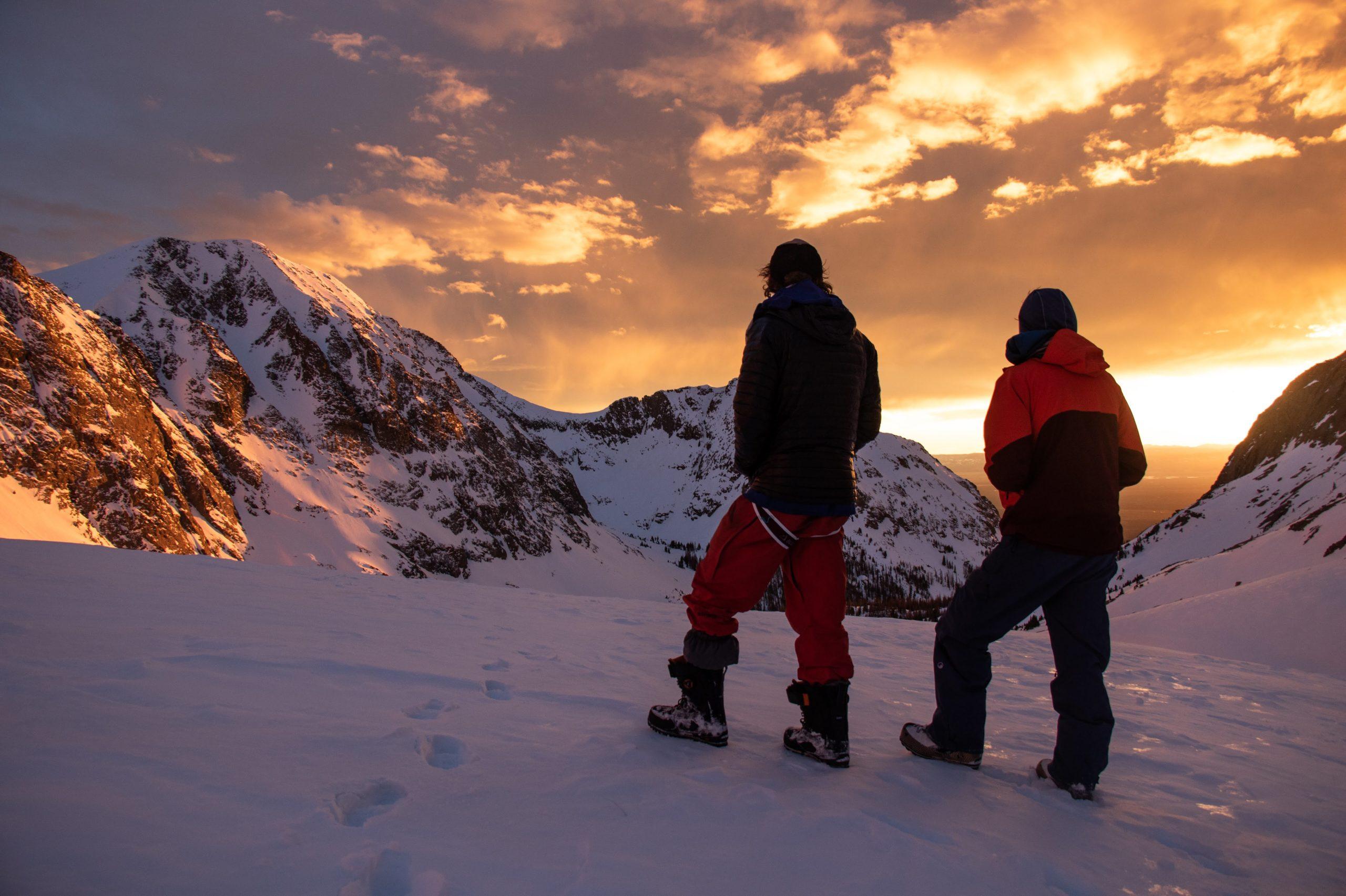 sangre de cristo snowboarding 14er sunset
