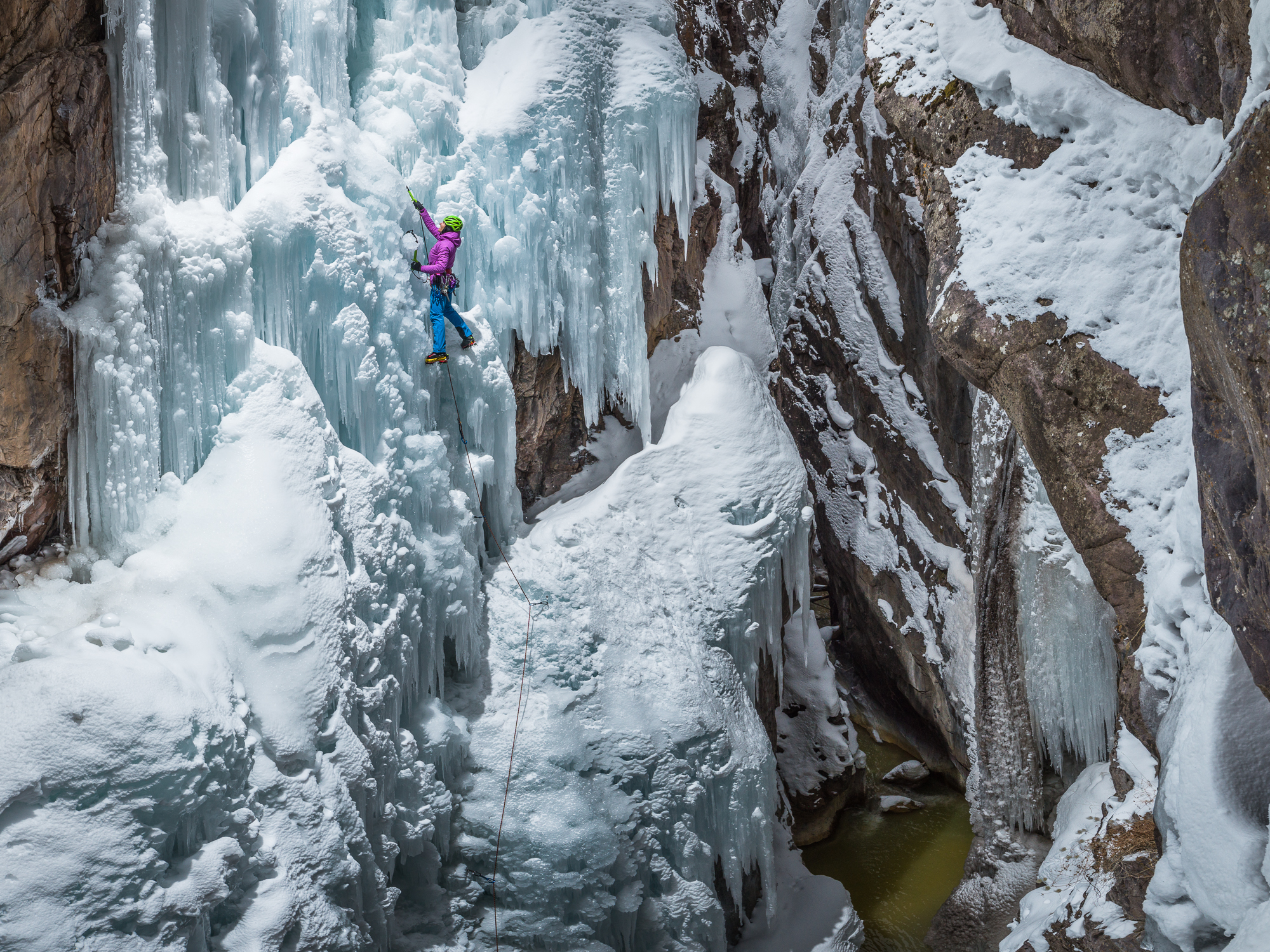 dawn glanc ice climbing ouray ice park