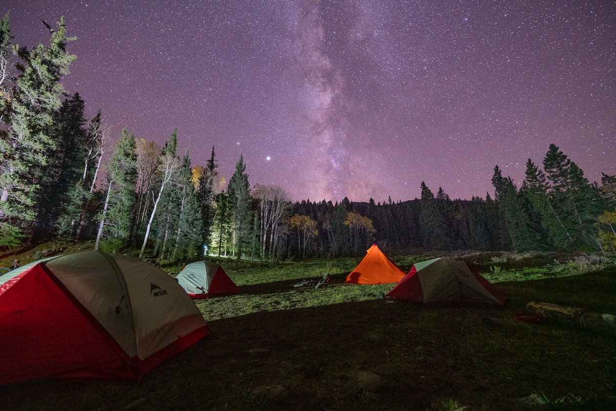 dispersed camping gunnison national forest astrophotography