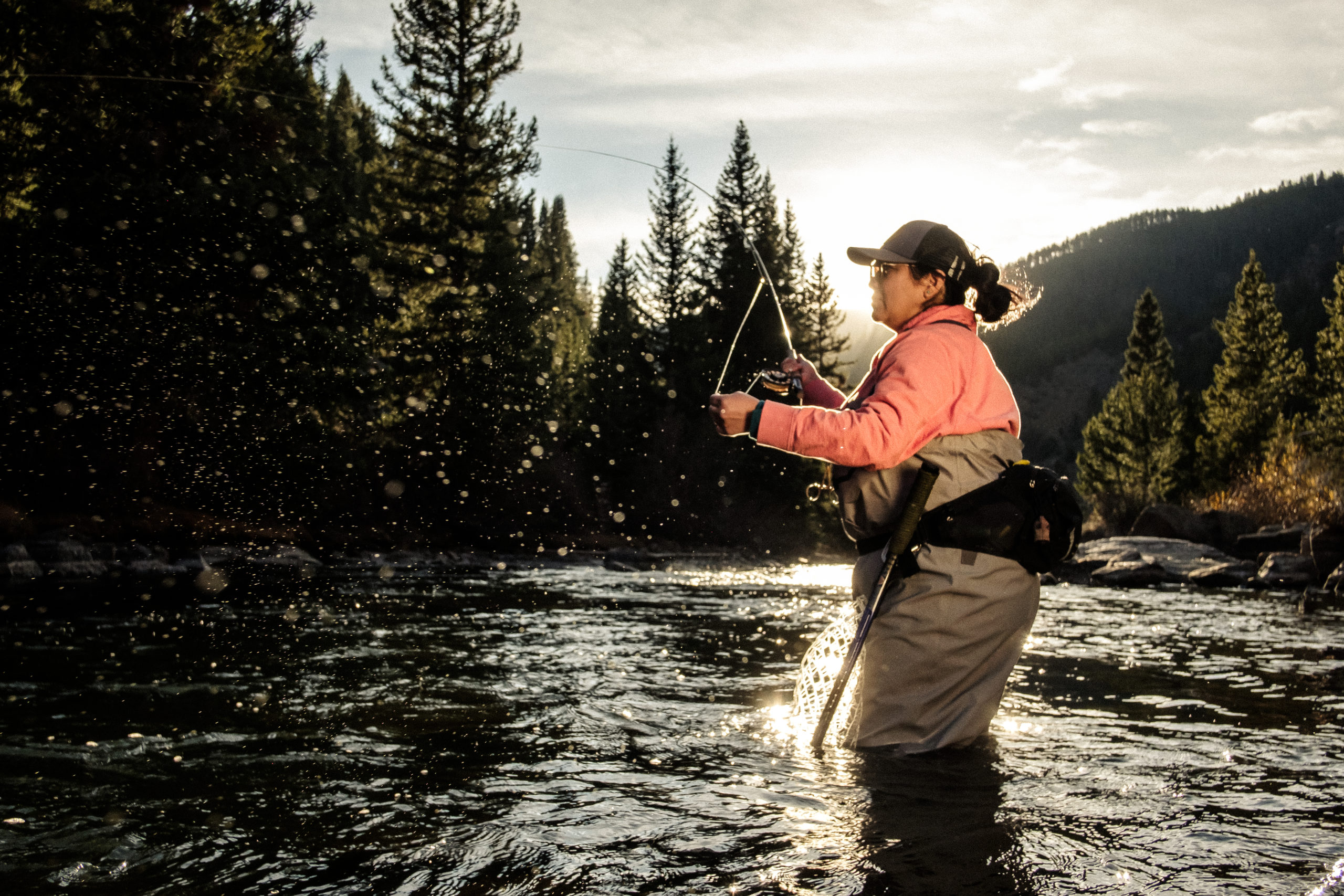 erica nelson fly fishing photo by ryan duclos
