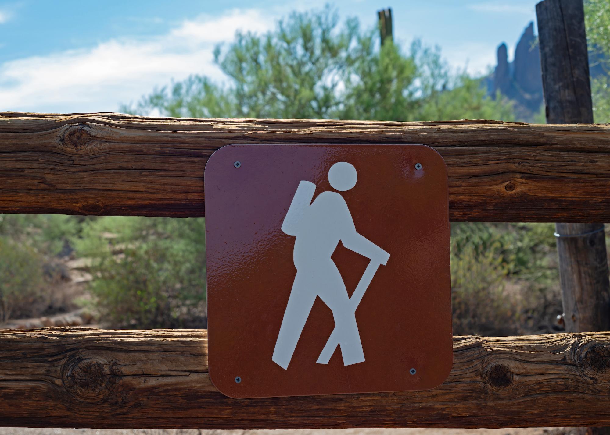 thru-hiking sign