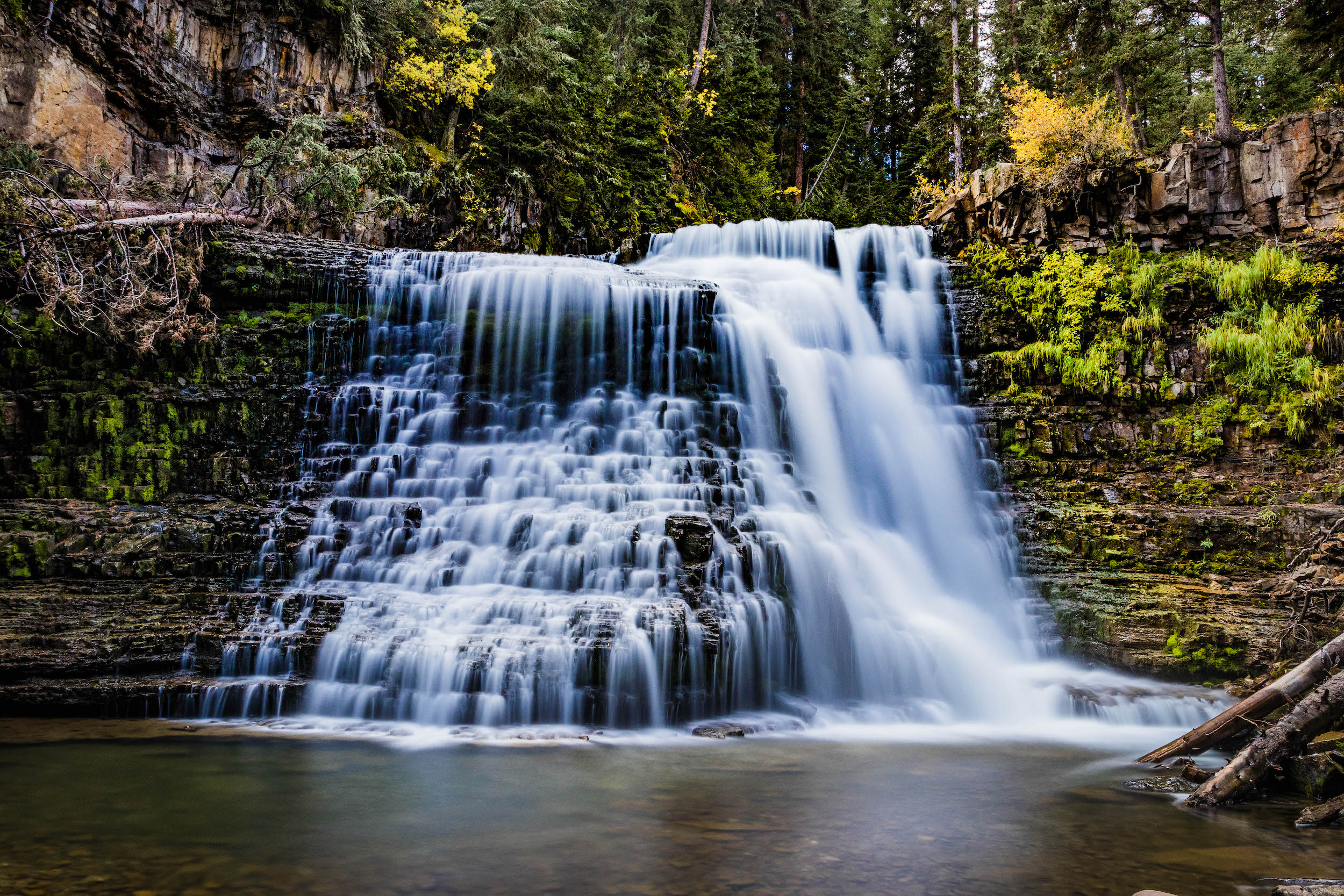 waterfall reconnecting outdoors