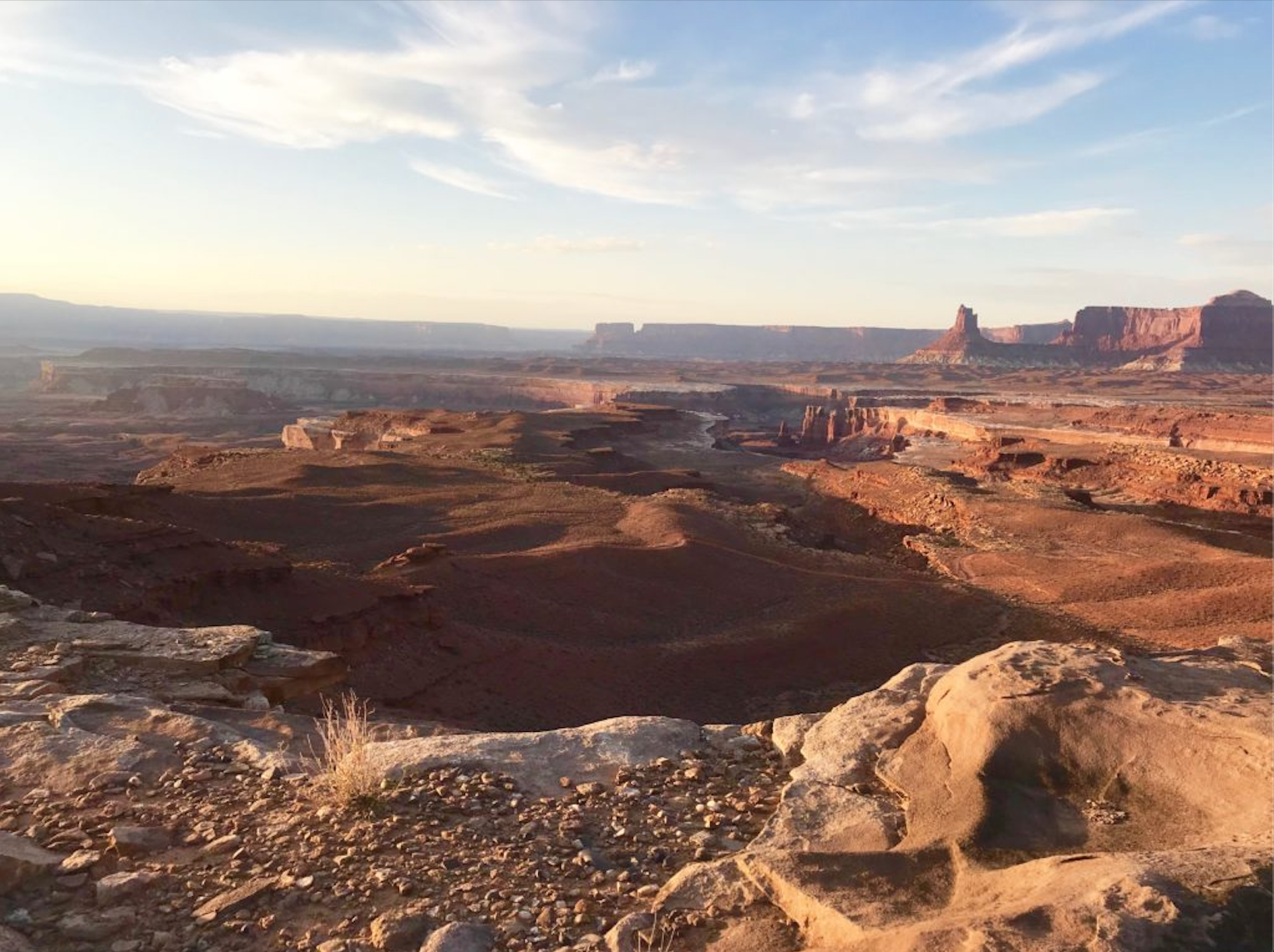 white rim trail mountain bike landscape