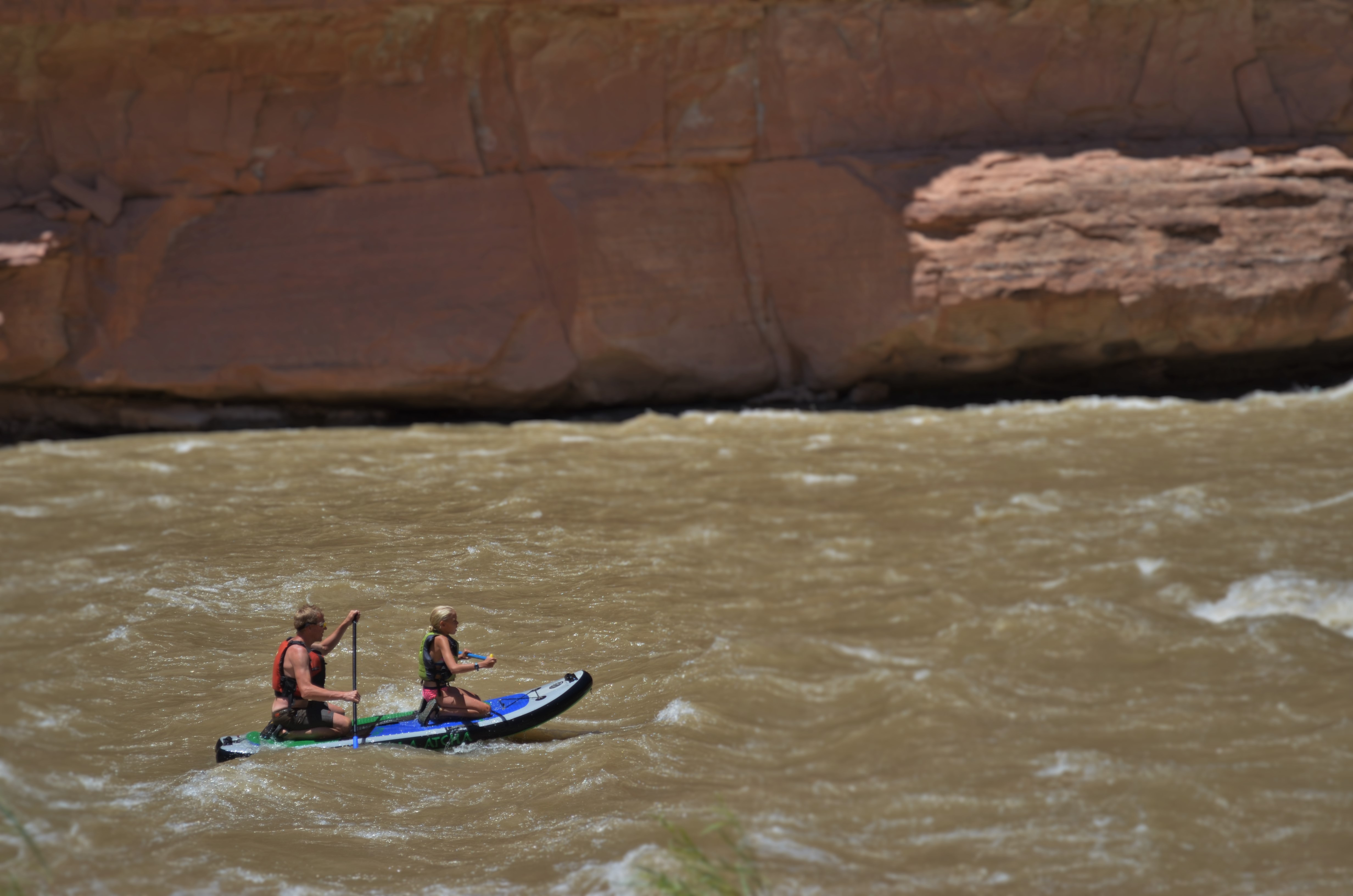 Paddleboarding the San Juan River during a family vacation