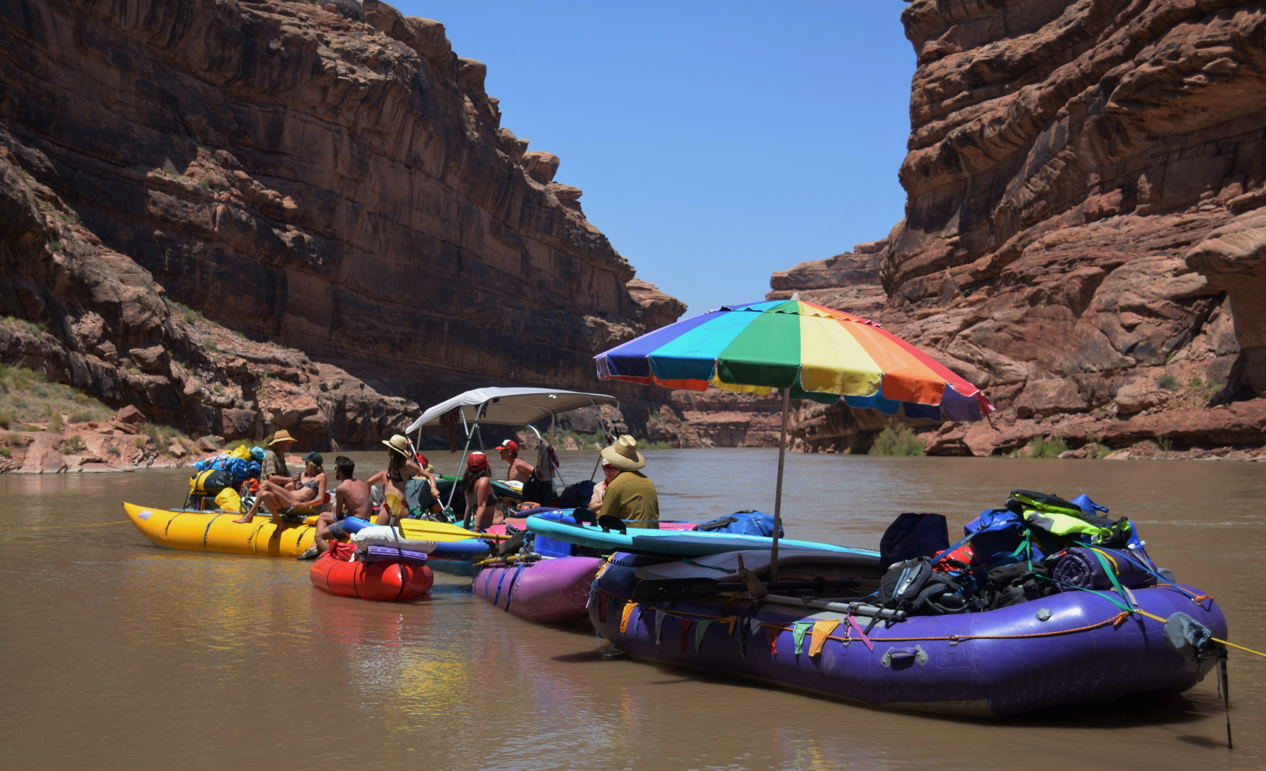 Raft party barge on the San Juan River