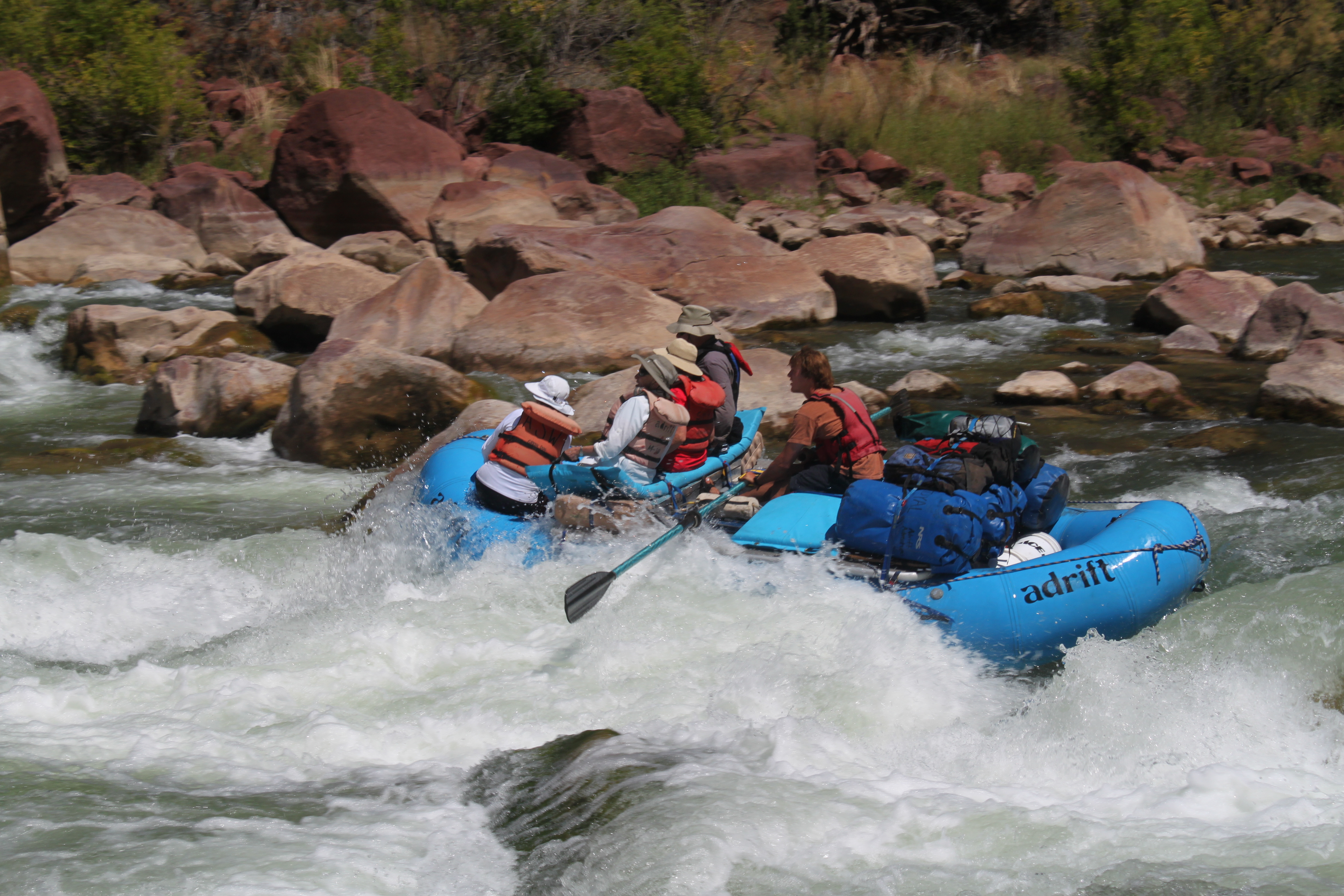 gates of lodore green river rafting hell's half mile rapid