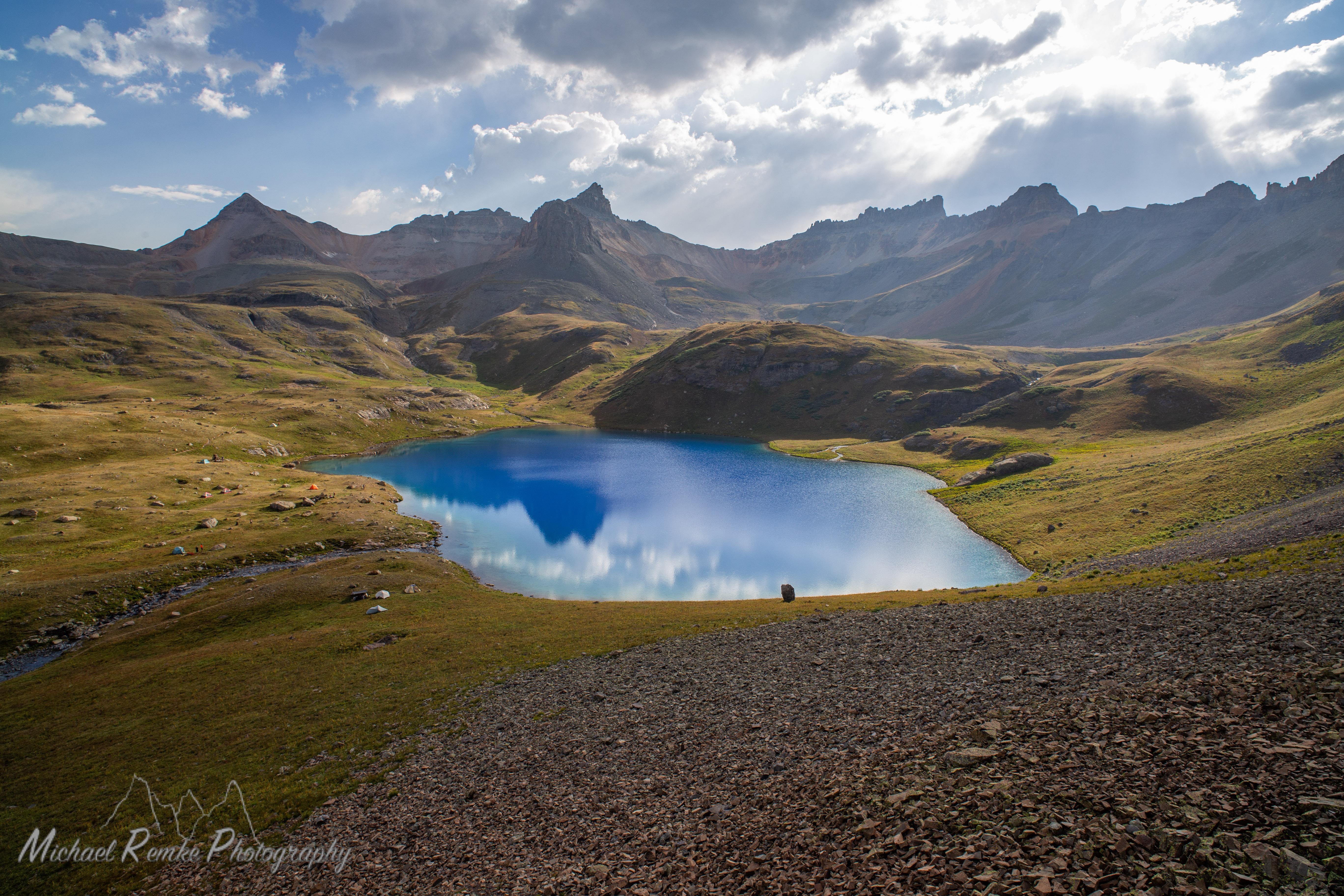 ice lake basin landscape alpine ecosystem