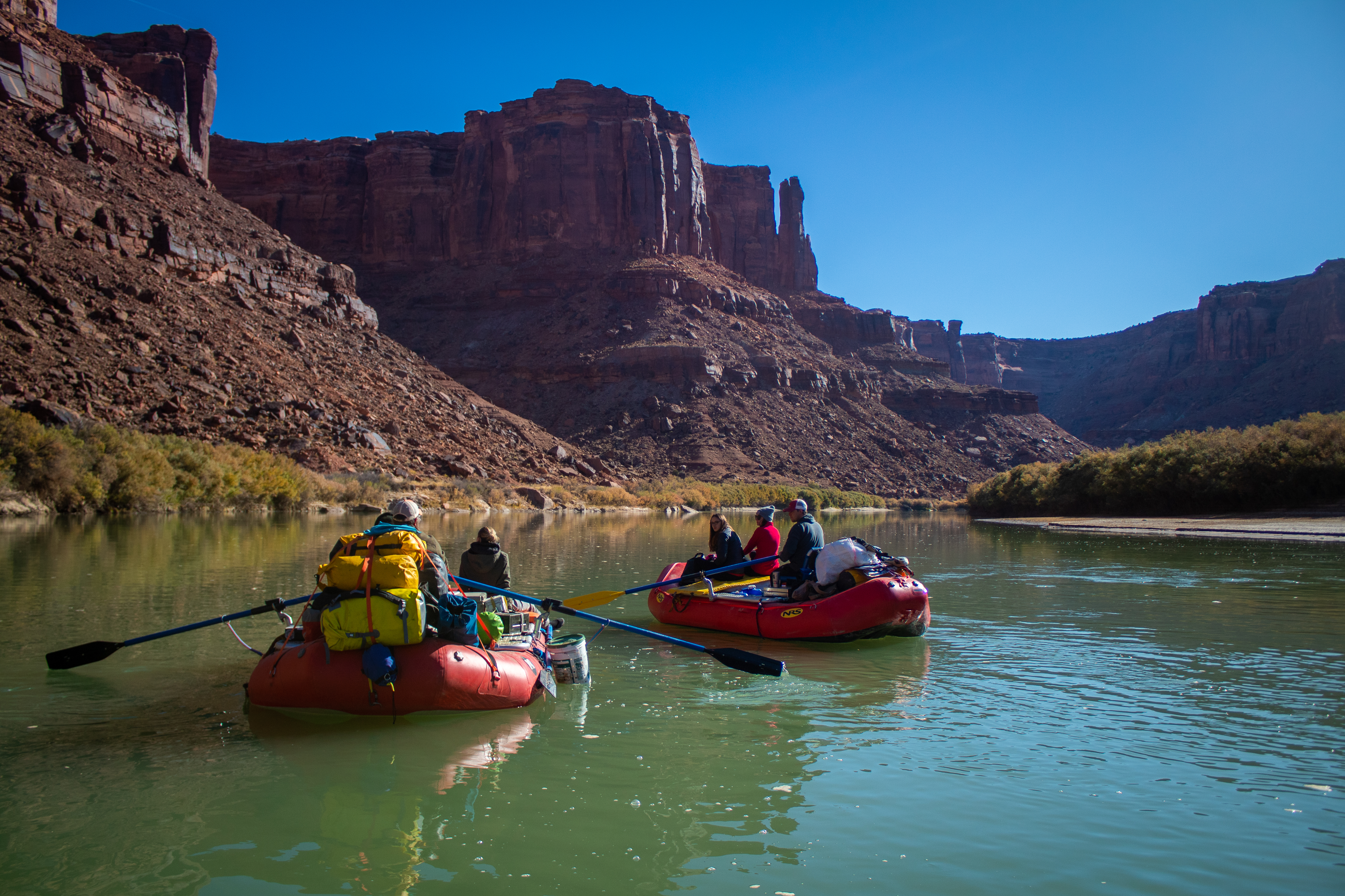 raft trip leader boating labyrinth canyon green river