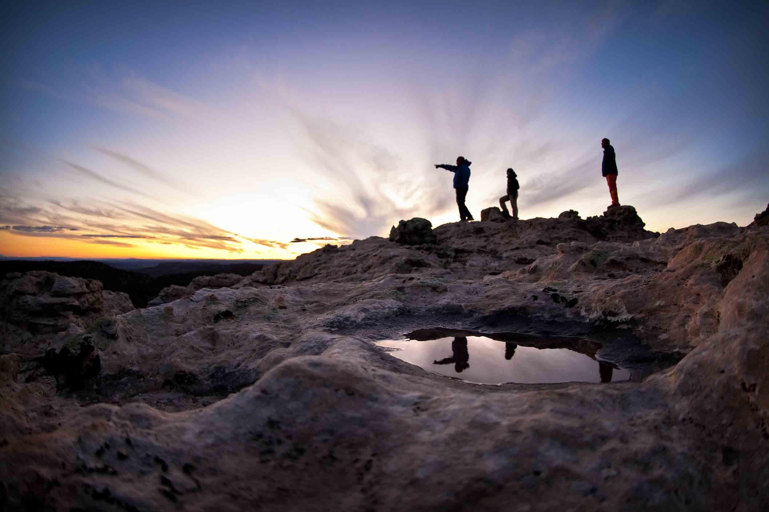southeast utah sunrise silhouette open sky wilderness therapy