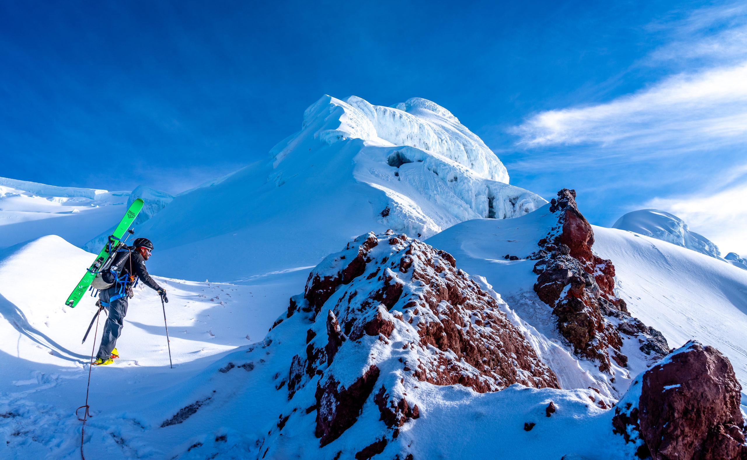 antisana ecuador ski mountaineering